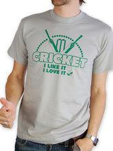Cricket T-shirt - I Love It Retro design All Sizes New T Shirts Funny Tops Tee Unisex Print Shirt Men