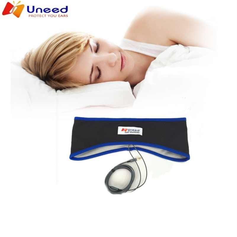 Uneed Comfortable Sleeping Headphone Thin Sweatproof Sports Headband With Lycra Speakers Weaving Thread Also sleeping Mask