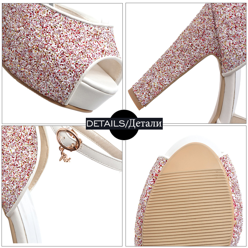 Blu Wet Estate Bridle Donna Peep Kiss Donna Toe Trend Donna Tacchi oro Shoes Sandali Fashion Suole alti bianco caviglia Zeppe rosso Platform alla HdwUqw