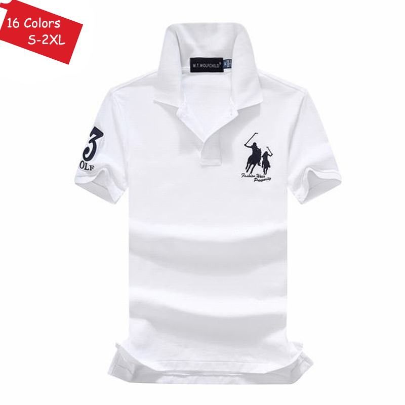 Good quality 2018 Summer brand Mens short sleeve horse polos shirts casual mens cotton lapel polos shirts fashion mens slim tops