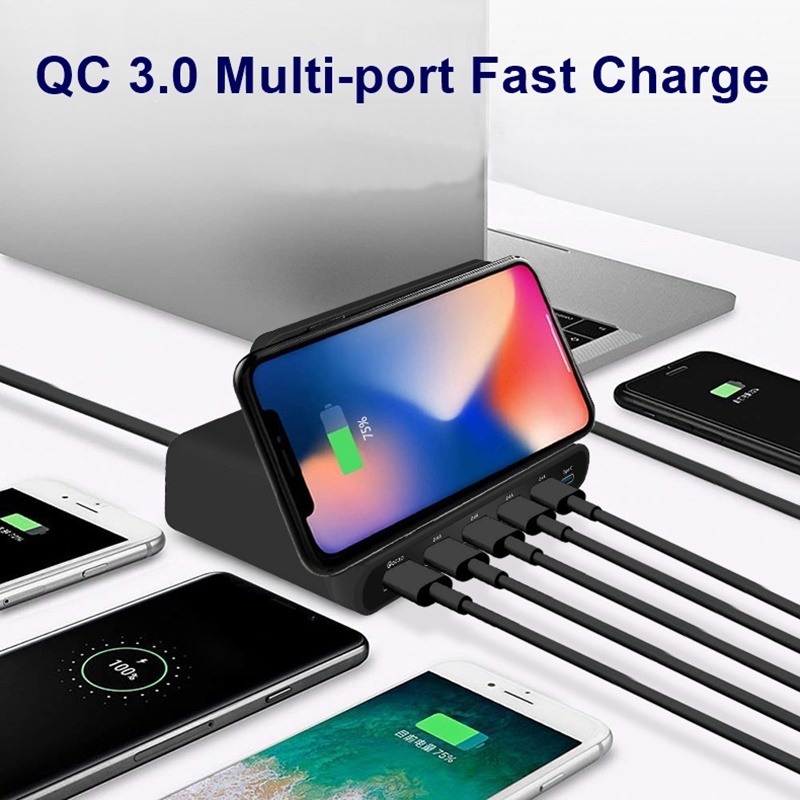 Image 5 - Tongdaytech 60W Qi Wireless Charger For Iphone 11 X XS MAX Multi USB Cargador Quick Charge 3.0 Fast Chargeur For Samsung S9 S8-in Mobile Phone Chargers from Cellphones & Telecommunications