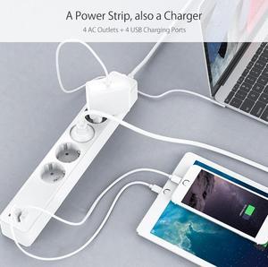 Image 5 - Tuya חכם WIFI כוח רצועת האיחוד האירופי סטנדרטי עם 4 תקע ו 4 יציאת USB תואם עם אמזון Alexa ו google קן