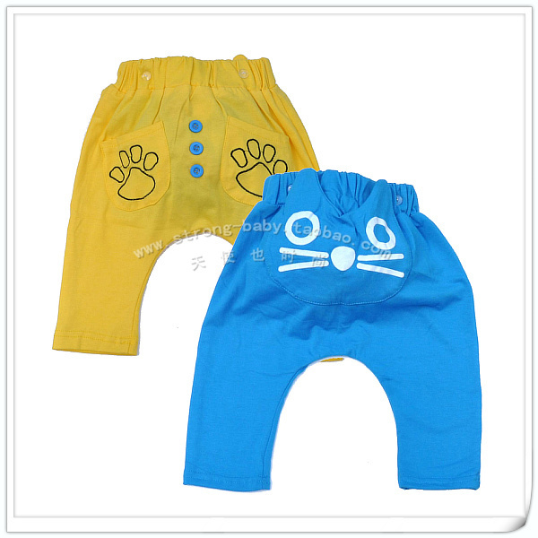 Cartoon little cat pp pants baby trousers spring and autumn