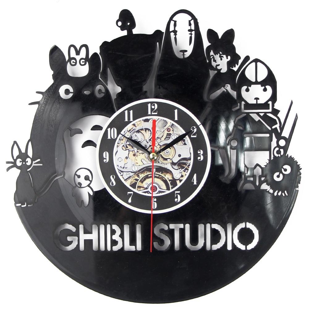 6c0f3a70c89 Aliexpress.com   Buy CD Vinyl Record Wall Clock VintageTheme Black Art  Watch Duvar Saati Home Decorative Reloj Madera from Reliable wall clock  suppliers on ...