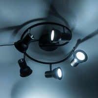 Amerikanischen einstellbar wohnzimmer Led Kronleuchter licht Decke montiert LED Kronleuchter Beleuchtung mit drehbare Schwarz nordic retro