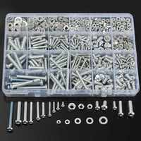 New Arrival MXSP2 M3 M4 M5 M6 Stainless Steel Phillips Round Head Screws Nuts Flat Washers
