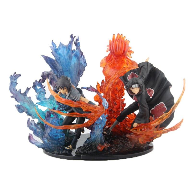 все цены на Anime Naruto Shippuden Zero Uchiha Itachi Uchiha Sasuke Susanoo Figur Toy Model 8