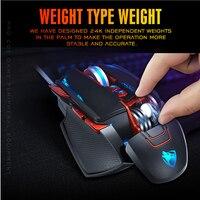 עבור מחשב Professional Wired Gaming Mouse 8 לחצן 3200 DPI LED אופטי USB עכבר מחשב גיימר עכברים עכבר משחק עבור גיימר מחשב נייד PC (2)