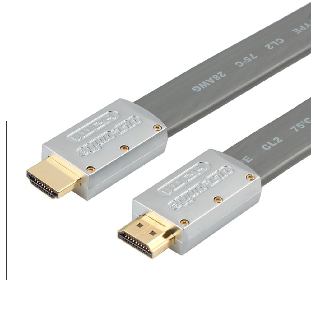 High Speed 1.4a HDMI Flat Cable 1.4V 1080P HD Ethernet 3D HDTV Gray 1M 1.5M  3M 5M  hdmi кабели real cable hd e flat 5m