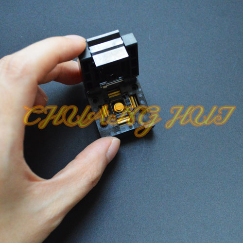 QFN68 test socket WSON68 DFN68 MLF68 IC SOCKET Pitch=0.4mm Size=8x8mmQFN68 test socket WSON68 DFN68 MLF68 IC SOCKET Pitch=0.4mm Size=8x8mm