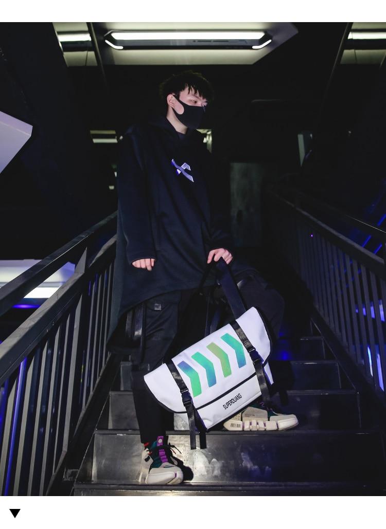 único oblíquo mochila 2019 moda