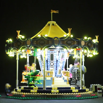 Led Light Set For Lego 10257 Building Blocks Creator City Street Carousel Toys Compatible 15036 (only light with Battery box)