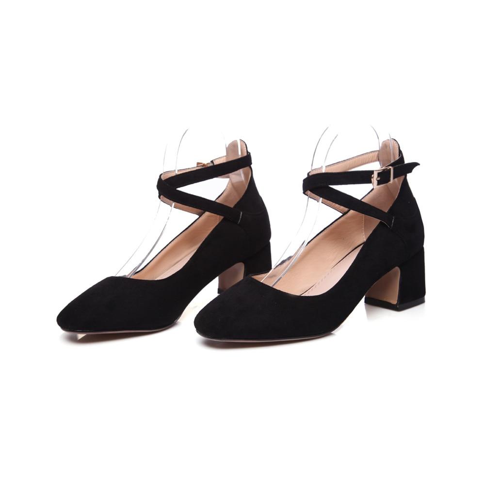 Cuir Noir Talons Hauts En Dames Rose Mode Suédé Simples Chaussures gray Green Carré Noir Automne Boucle Femmes Printemps army Asumer Gris rose Bout xFqwUTa6