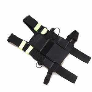 Image 3 - Abbree Bright Green Radio Chest Harness Chest Front Pack Pouch Holster Vest Rig Carry Case for Two Way Radio Walkie Talkie