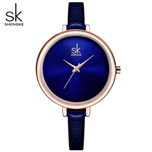 SHENGKE New Watch Women Creative Slim Quartz Wrist watches Ladies Brand Clock Design Elegance Fashion Watches relogio feminino