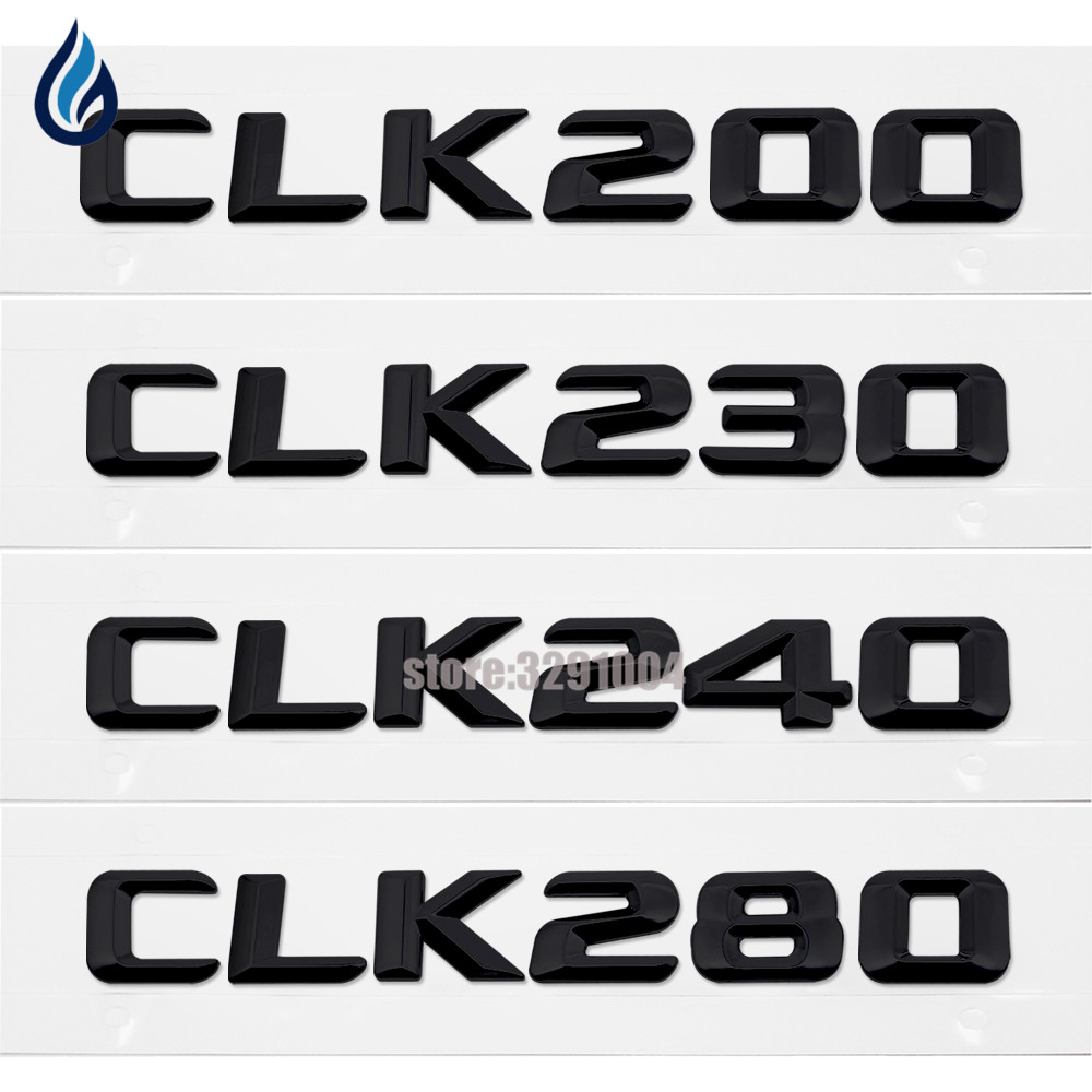 Car Styling For Mercedes Benz CLK Class W207 W208 W209 CLK200 CLK230 CLK240 CLK280 Rear Tail Emblem Number Letters Badge Sticker подшипник сферический шариковый nsk ucp204 205 206 207 208 209 ucp210