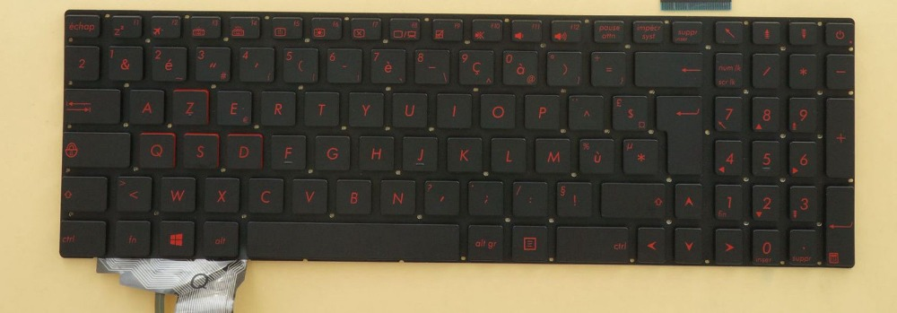 все цены на New notebook Laptop keyboard for  ASUS GL771JM GL771JW Backlit  French/Fr layout онлайн