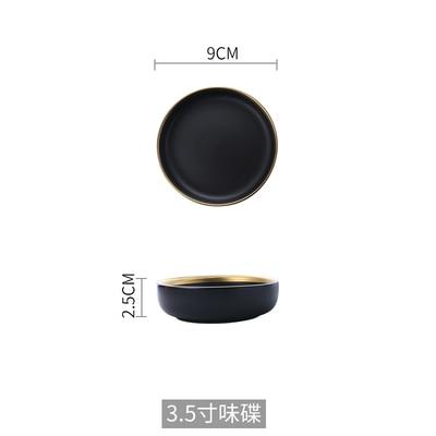Black dish