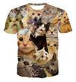 New Fashion Cute Cats 3d t shirt Surprised Cats T-Shirt funny t shirts Women/Men summer casual tee shirts harajuku tee tops