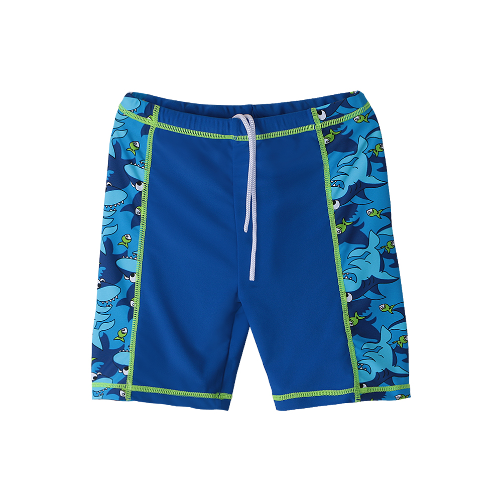 18c8186498 BAOHULU Navy Boys Swimwear Children Swimsuit Cartoon Shark Pattern UPF50+ Bathing  Suits for Kids Lycra Summer Swimming Wear
