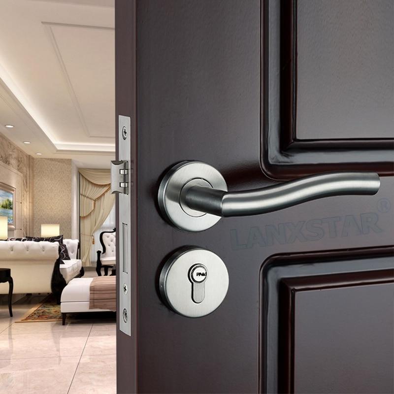 Homegrown Top Quality Stainless Steel Split Lock Indoor Mute Lockcore High Strength Hardware Lockset Room Door Locks