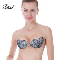 Silicon Bra Push Up Sexy Womens Sticky Bra Lace Bralette Silicone Invisible Strapless Bras Backless Intimates