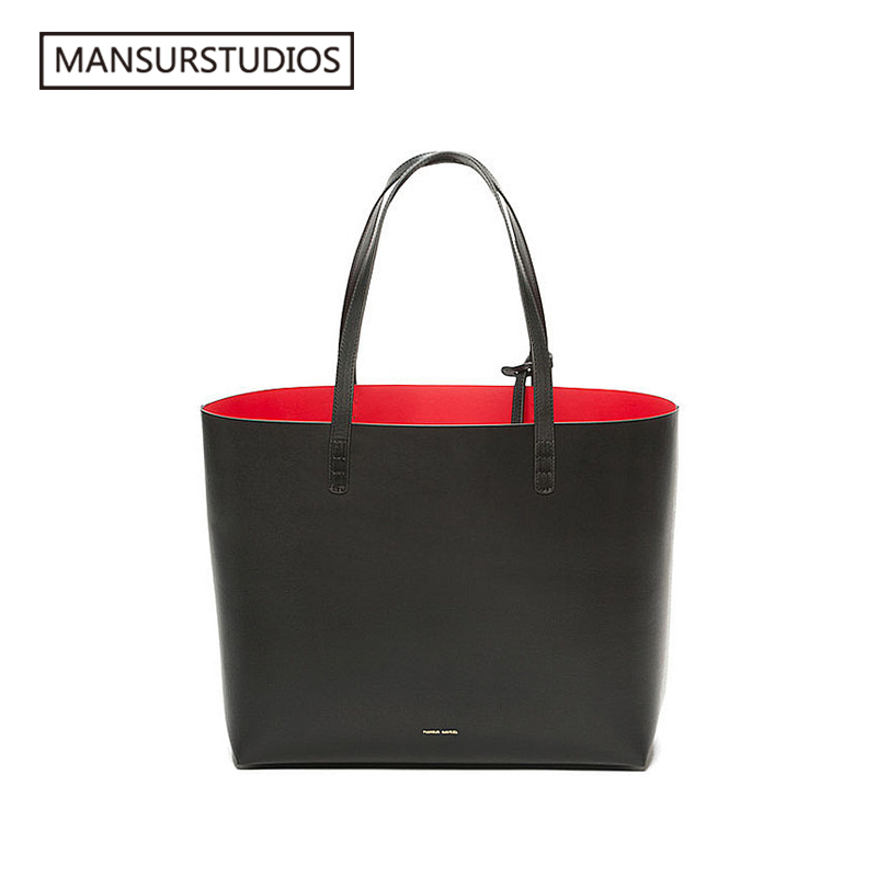 MANSURSTUDIOS Women Leather  Tote Bag,mansur Gavriel  Lady Real Leather Beach Bag, Ladies Hand Bags, Free Shipping