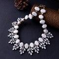 Vintage chapado hoja diseños extravagantes famosa marca venta caliente rhinestone clásico de las mujeres collar de la joyería