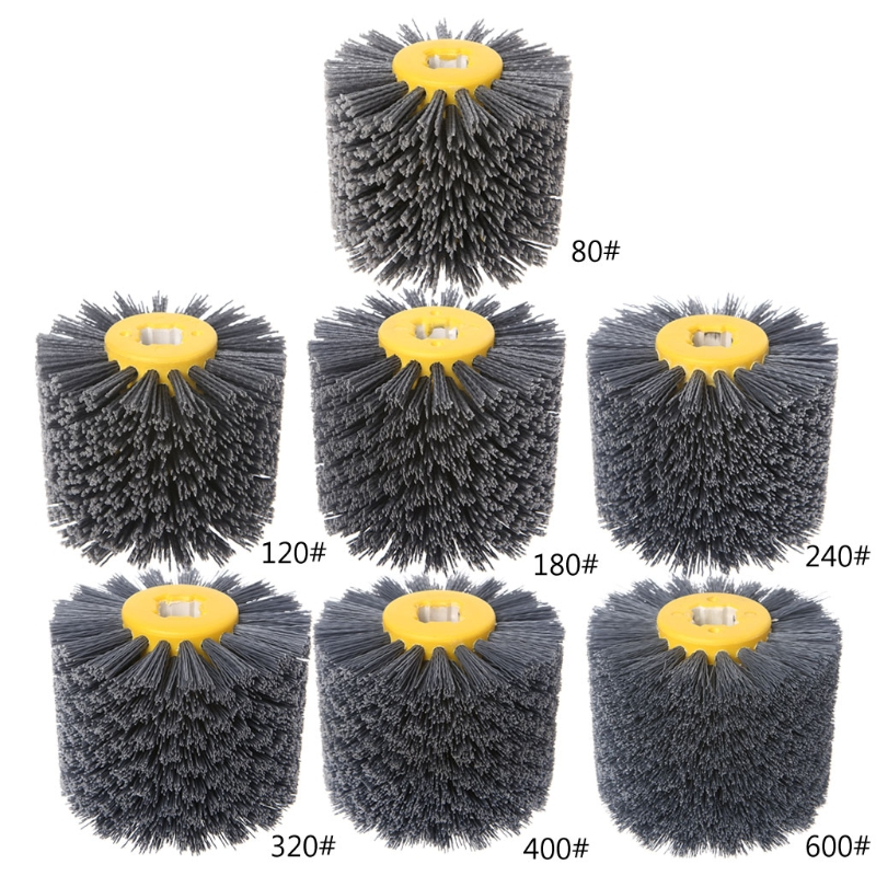 Buffer-Wheel Brush-Head Furniture Polishing-Grinding-Tool Rotary-Drill Deburring-Abrasive-Wire