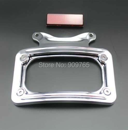 Chrome License Plate Frame Bracket For Harley Road Glide