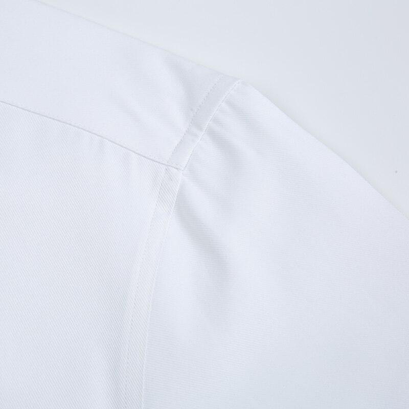 Image 4 - Mens Long Sleeve Standard fit Solid Basic Dress Shirt Patch Single Pocket High quality Formal Social White Work Office Shirtsdress shirtbusiness shirtshirt business -