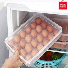 Square Convenient Refrigerator PP Storage Box Frozen Dumplings Egg Non-stick Food Convenient Crisper By M&K HOME