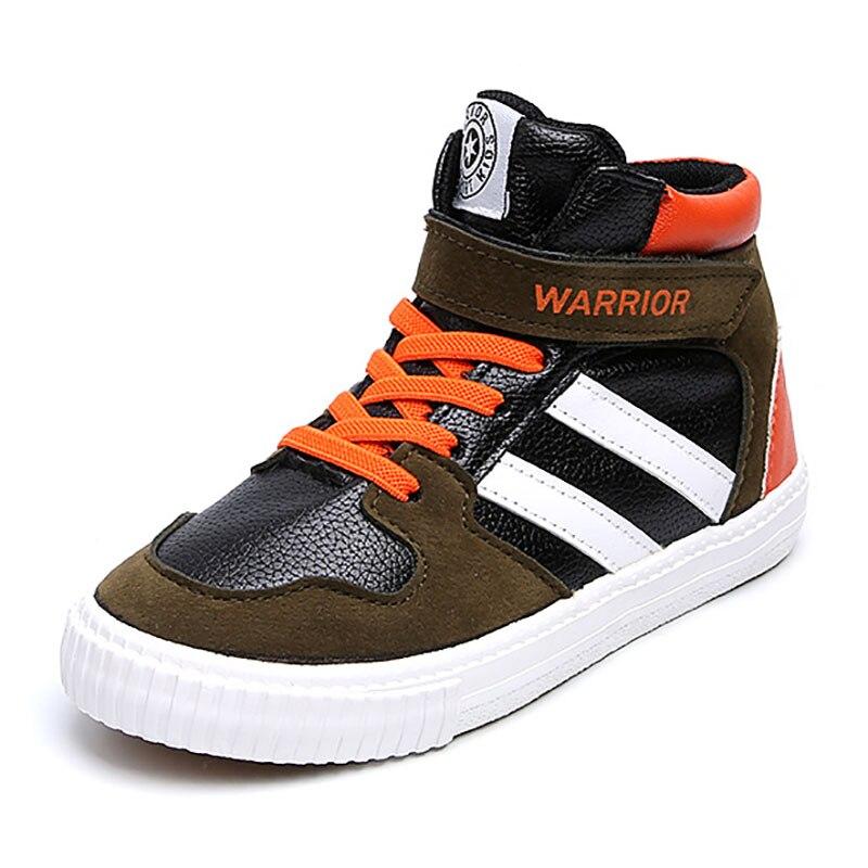Niedrigerer Preis Mit Eu23-37 Grau Grün Marke Neue Flache Frühling Herbst Kinder High-top Sneakers Schuhe Jungen Turnschuhe Mädchen Einfach Und Leicht Zu Handhaben
