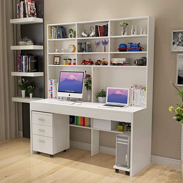 US $200.0 |Computer desk with a simple modern desktop bookcase desk  bookcase bedroom desk desk combined domestic students-in Laptop Desks from  ...