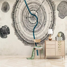 3D wallpaper personality wood texture simple modern living room wall professional custom mural photo