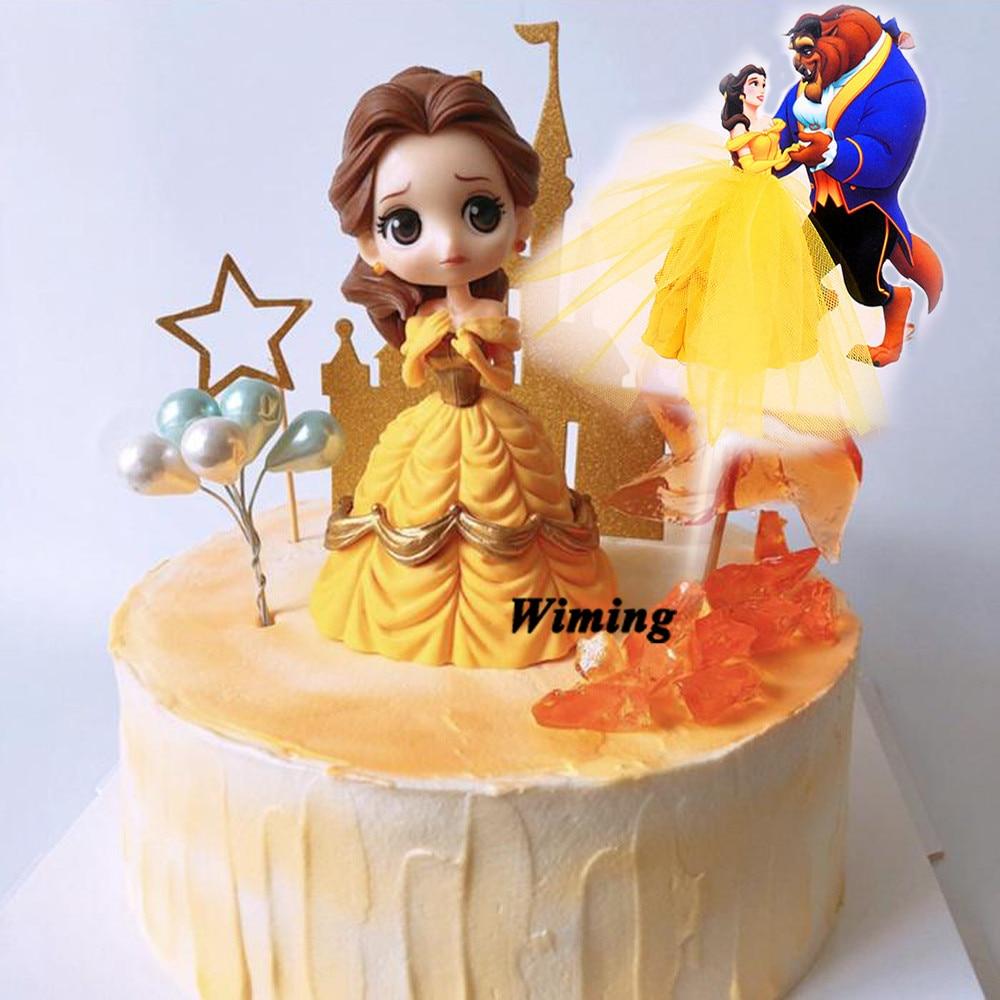 Sensational Princess Belle Cake Topper Decoration Birthday Girl Party Toys For Funny Birthday Cards Online Kookostrdamsfinfo