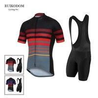 2018 RUIKODOM Short Sleeve Quick Dry Cycling Jersey Set With Bib Men S Summer Pro Bike