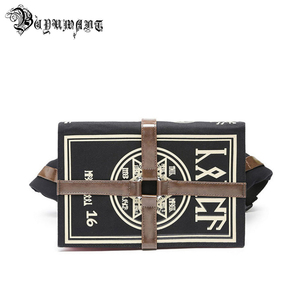Image 1 - Buyuwant Canvas Shoulder bag Gothic book shape Messenger bag Cartoon Magic book student bag women punk handbag BW01 SB mfhxzb