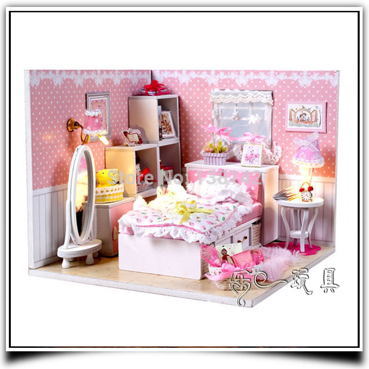 Dream Angels M001 Diy Dollhouse Bedroom With Voice Led Light Doll