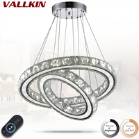 Round Shape 45W Dimmable LED Modern Pendant Light Creative Novelty Home Indoor Lights Crystal Lamp Pendant Lighting Fixtures