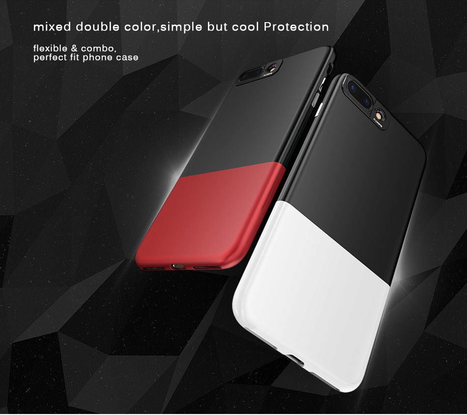 FLOVEME Fashion Contrast Hybrid Phone Cases For iPhone 6 7 6S Plus Higher Camera Protection Hard Hit Color Cover For iPhone 6 7 (7)