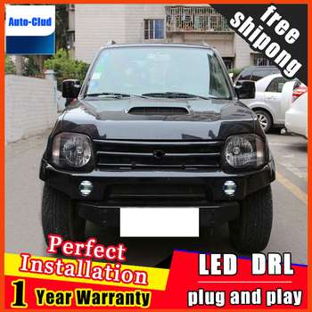 Car-styling LED fog light for Suzuki Jimny LED Fog lamp with lens and LED day time running ligh for car 2 function