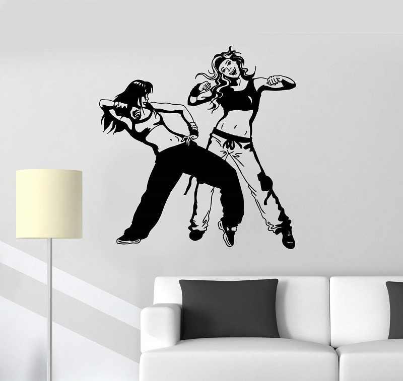 Applique Murale Vinyle Sexy Couple Danseur Danse Hip Hop