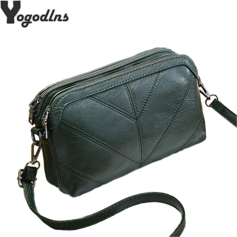 2020 High Quality Women Handbag Luxury Messenger Bag Soft pu Leather Shoulder Bag Fashion Ladies Crossbody Bags Female Bolsas(China)