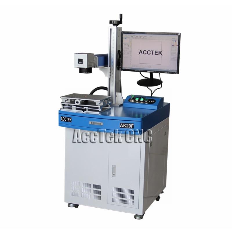 Machine séparée d'écran de téléphone de laser de fibre de CNC/machine en acier de marquage de laser d'acctek 20 w pour le tissu de denim de tissu de jeans