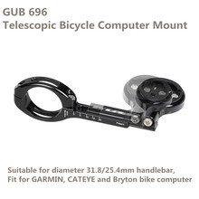 Cheaper 2017 New GUB 696 Telescopic Bicycle Computer Mount Stand For MTB Road Bike Adjustable Compatible For GARMIN Bryton Holder