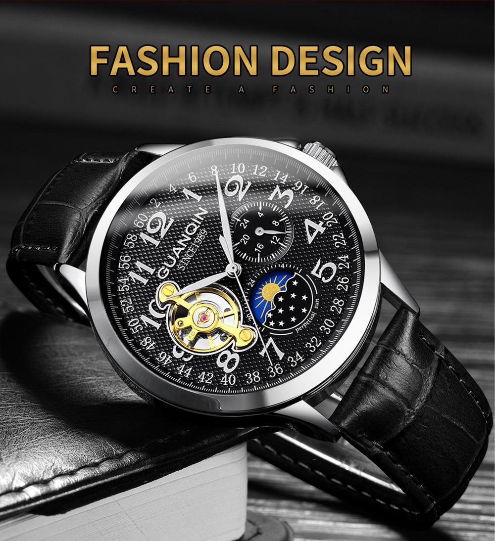 HTB1 tWyalKw3KVjSZTEq6AuRpXan 2019 Fashion GUANQIN Mens Watches Top Brand Luxury Skeleton Watch Men Sport Leather Tourbillon Automatic Mechanical Wristwatch