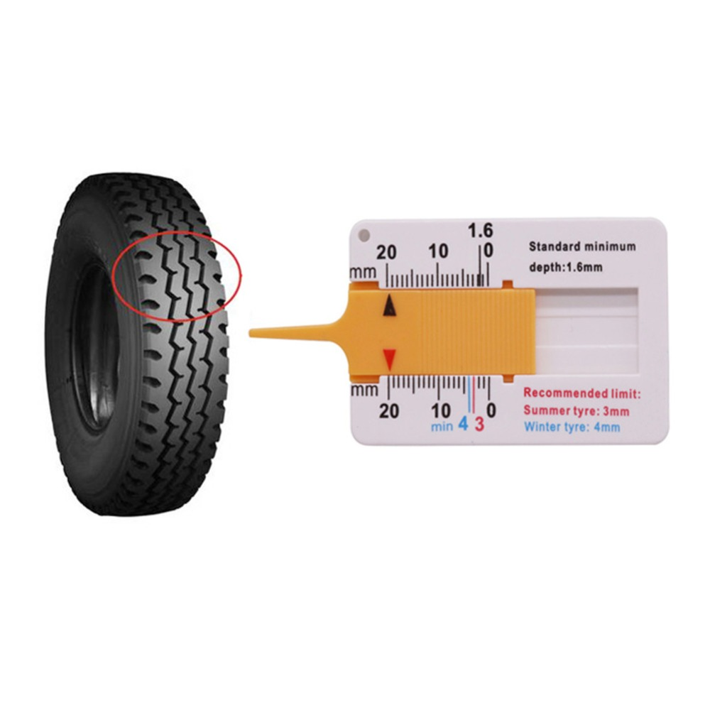 2 pcs 1-20mm Caliper Ruler Automotive Tire Line Depth Measurement Tool Mini Plastic Material Repair Tool Ruler