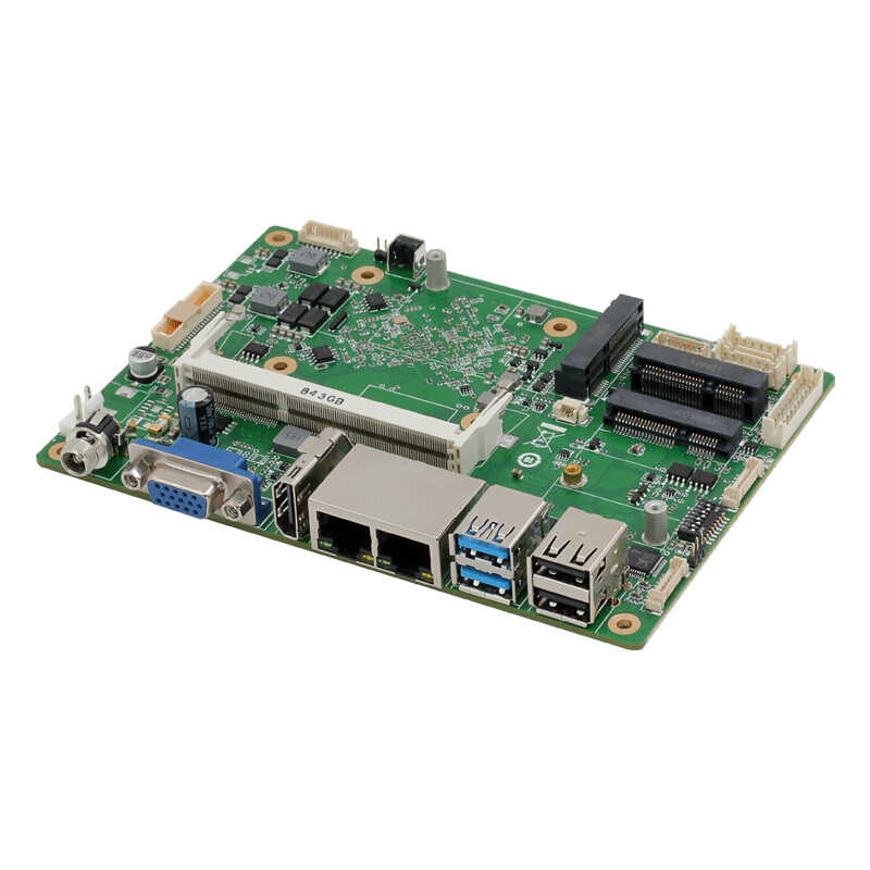 3,5 pulgadas Intel Celeron 2955U ordenador Industrial placa base Dual NIC 4G LTE SIM Card 6xCOM 8 Cable WiFi BT HDMI VGA Windows Linux