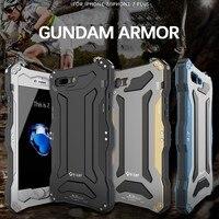 R-JUST Gundam Rüstung Leben Wasserdicht stoßfest Aluminiummetallabdeckungs-fall für IPhone 5 S SE 6 6 s 6 s plus 7 7 Plus Phone Cases